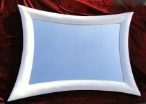 Wandspiegel Weiß Spiegel Modern Retro 115 x85 Flurspiegel Friseur/Badspiegel