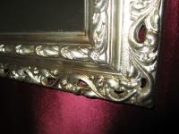 Wandspiegel 43x36 Spiegel BAROCK Rechteckig Antik 3059 ANTIKSILBER Arabesco 1