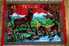 Wandteppich aus Italien 170 cm X120 cm Hirsch Motiv RRY