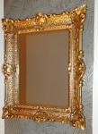 Vintage Wandspiegel ANTIK SPIEGEL BAROCK 56x46 Bad Spiegel Gold Rechteckig