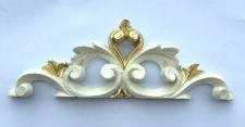 2x Wanddeko Barock Wandbehang ivory Gold Deko 19x6, 5 Wandrelief Deko Antik C1538