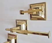 Handtuchhalter gold Messing Barock Badezimmer Set Wc Toilette Bad Luxus Klassik