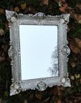 Wandspiegel Antik Silber 57x47 Badspiegel Barock vintage Rechteckig 30x40