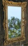 Barock Spiegel Gold Italienische Wandspiegel Antik Rechteckig 96x57 Modern Deko