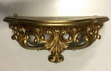 Wandkonsole Spiegelkonsole Barock Konsole Usedlook Shabby Gold 38x20 Regal 3083G