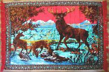 Wandteppich aus Italien 170 cm X120 cm Hirsch Motiv TL