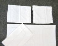 Babybettwäsche 4 tlg Baumwolle 100x150cm Kinderbettwäsche Weiß Spitzenstoff