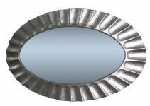 Wandspiegel Silber XXL Spiegel Oval 115x85 Mirror Flurspiegel Barspiegel
