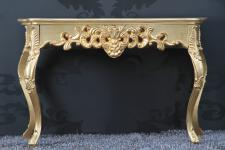Wandkonsole Gold Antik Sideboard Spiegelkommode Konsole XL Wandkommode 130x75cm