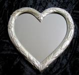 Wandspiegel Herz Spiegel Herz Barock Antik 39x38 Oval Kinderzimmer Spiegel 3072