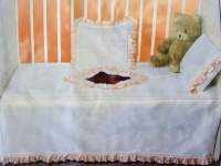 Babybettwäsche 4 tlg Baumwolle Spitzenstoff 100x150cm Kinderbettwäsche