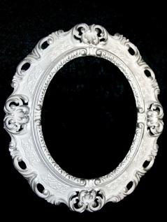 Bilderrahmen Oval Barock Gold Silber Schwarz Weiß 45x38 Fotorahmen Antik Vintage - Vorschau 5
