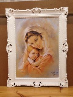 Mutter Baby Madonna Maria Gemälde 90x70 Bild Wandbild Bild mit Rahmen Barock - Vorschau 5