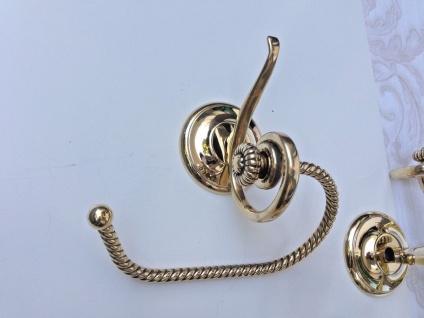 Handtuchhalter Gold Messing Barock Badaccessoires Wc toilette Bad Klassik Luxus - Vorschau 5
