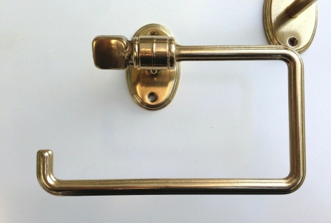 Handtuchhalter Gold Messing Wc Toilette Bad Barock Badaccessoires Seifenspender - Vorschau 5
