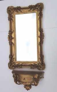 Wandspiegel mit Konsole Antik Wandkonsole Barock Hängekonsole 97cm Prunkspiegel - Vorschau 5
