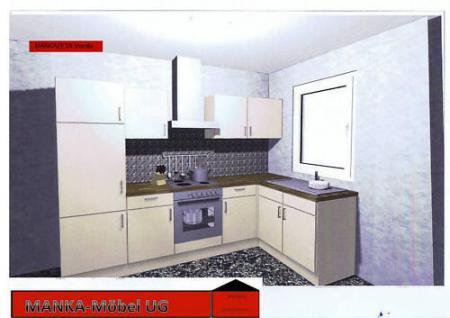 Einbauküche MANKAZETA Küchenzeile L-Form m. E-Geräte