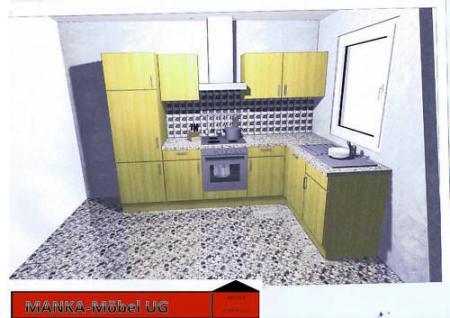 Einbauküche MANKAJOTA Küchenzeile L-Form Geräte+Spülm. - Vorschau 2