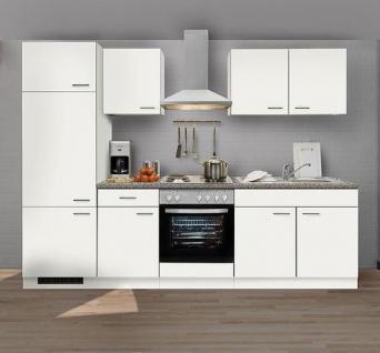 Einbauküche MANKAWHITE 2 Küche Küchenzeile Küchenblock mit E-Geräte und Spüle