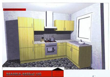 Einbauküche MANKAEPSILON 2 Küchenzeile L-Form E-Geräte - Vorschau 1