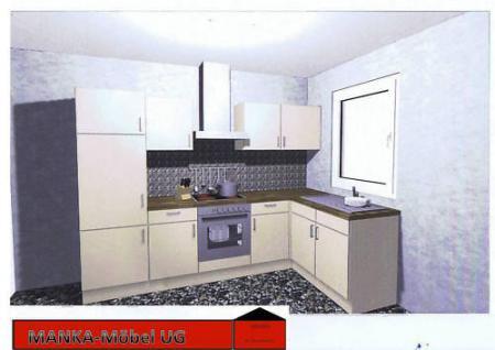 Einbauküche MANKAZETA 2 Küchenzeile L-Form m.E-Geräte - Vorschau 1