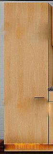 Hochschrank MANKAPORTABLE Buche BHT 50/200/57cm Küche Mehrzweck Geschirrschrank