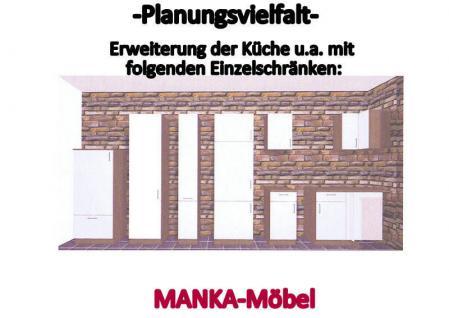 Küchenzeile MANKATOP 1 Küche 270cm Küchenblock HochglanzSchwarz / Buche m.Geräte - Vorschau 3