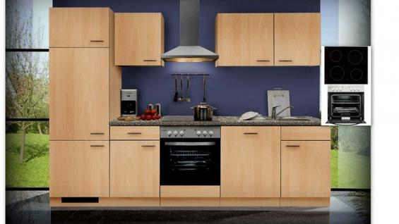 Einbauküche MANKAGAMMA 2 Buche Küche Küchenzeile 280cm Küchenblock ...