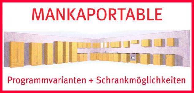 Spülenunterschrank m. Auflagespüle u. Hängeschrank MANKAPORTABLE Buche 100 cm - Vorschau 2