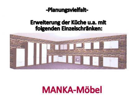 Küchenzeile MANKATOP 1 Küche 270cm Küchenblock HochglanzSchwarz / Buche m.Geräte - Vorschau 2