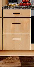 Unterschrank MANKAPORTABLE Buche o. APL BxT 50/50cm Küche Schubkastenschrank