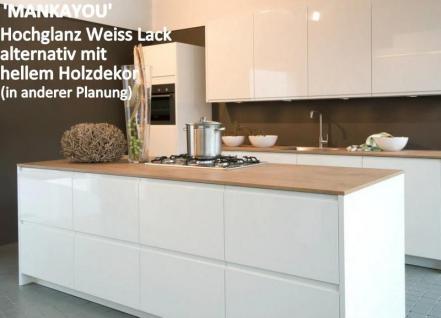 Einbauküche Mankayou 2 Küche Küchenzeile L-Form 355X190Cm Weiss