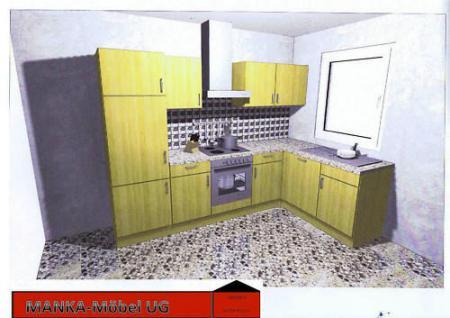 Einbauküche MANKAJOTA Küchenzeile L-Form Geräte+Spülm. - Vorschau 1