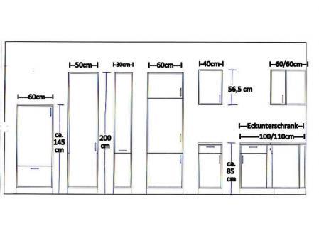 Küchenzeile MANKATOP 1 Küche 270cm Küchenblock HochglanzSchwarz / Buche m.Geräte - Vorschau 5
