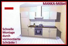 Einbauküche MANKABETA 3 vanille Küche Küchenzeile 270 cm Küchenblock o.E-Geräte