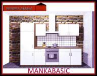 Küchenzeile MANKABASIC 1 Küche 270cm Küchenblock Vanille/Sonoma Eiche m.E-Geräte