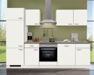 Einbauküche MANKAWHITE 6 in Weiß Küchenzeile 280 cm o. E-Geräte / Top-Qualität!!