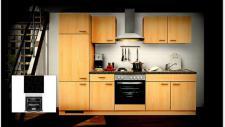 Einbauküche MANKAALPHA 2 Buche Küche Küchenzeile 270cm Küchenblock mit E-Geräten