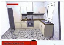 Einbauküche MANKAETA 2 Küchenzeile L-Form Geräte+Spülm.