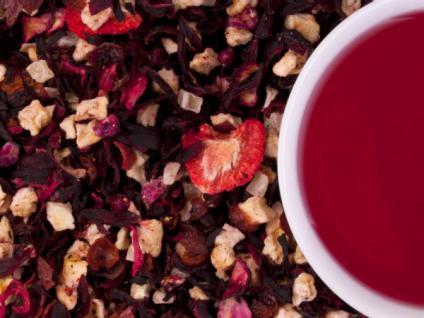 Früchtetee Granatapfel-Erdbeer - mit natürlichem Aroma - 200 g - Vorschau 2