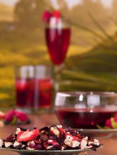 Früchtetee Granatapfel-Erdbeer - mit natürlichem Aroma - 200 g