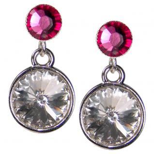 Silberne Kristall-Ohrringe mit SWAROVSKI ELEMENTS. Kristall-Blau