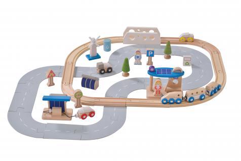 Eisenbahn-Set ökologische Stadt
