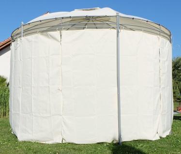 Eleganter Gartenpavillon Pavillon 3, 5 Meter Durchmesser rund mit Dach 100% wasserdicht UV30+ und 6 Vorhängen MARSEILLE von AS-S - Vorschau 5