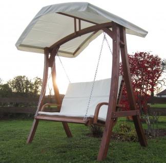AS-S Design Hollywoodschaukel Gartenschaukel Schaukelbank KUREDO mit Dach aus Holz Lärche - Vorschau 5