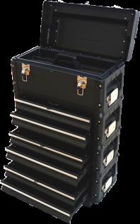 Metall Werkzeugtrolley XXL Type B3-B BLACK EDITION mit Schubladenverriegelung und Schloss