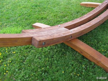 410cm XXL Hängemattengestell MONA aus Holz Lärche mit bunter Tuch Hängematte - Vorschau 5