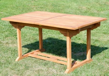 TEAK XXL Ausziehtisch 150/210x90 cm Holztisch Gartentisch Garten Tisch 150 / 210 Länge 90cm Breite Holz Modell: JAV-SABA von AS-S - Vorschau 5