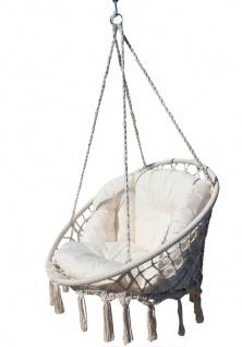 DESIGN Hängesessel CATALINA XXL 100cm Durchmesser mit extrem gemütlichen Kissen (ohne Holzgestell)