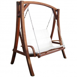 AS-S Design Hollywoodschaukel Gartenschaukel Schaukel Holzschaukel Hollywood Swing aus Holz Lärche Modell KUREDO103OD